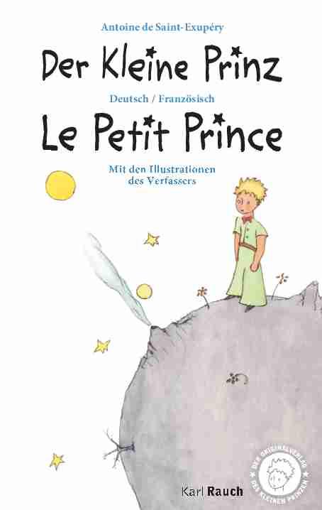 Der Kleine Prinz / Le Petit Prince Deutsch / Französisch